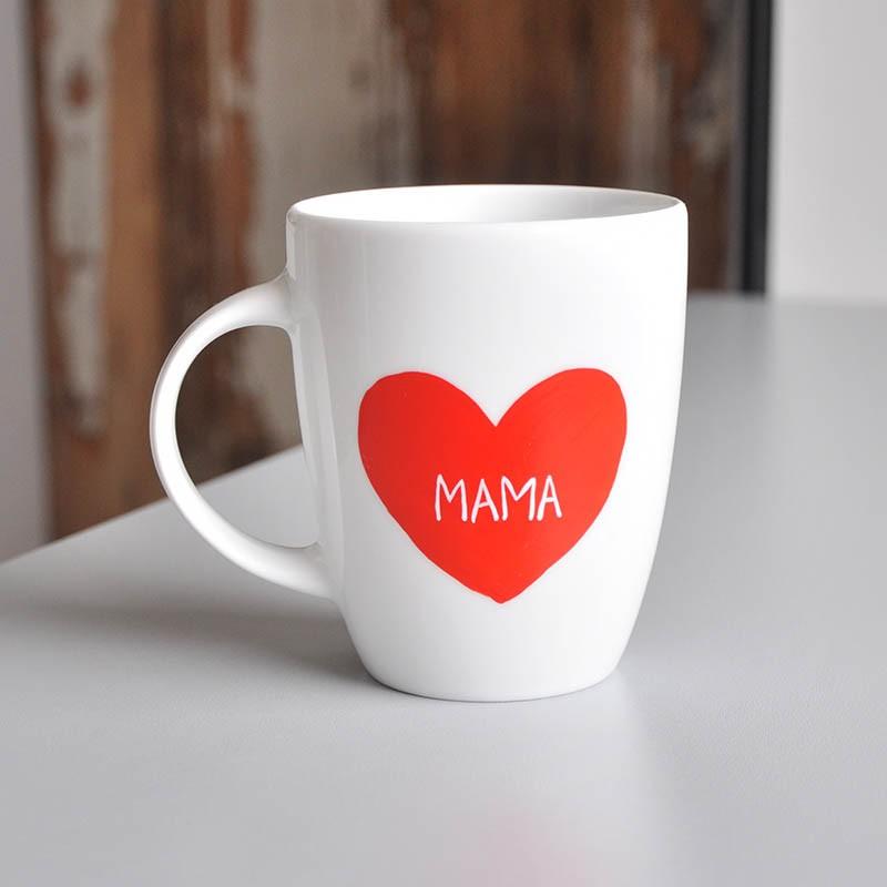 Kubek Serce Dla Mamy. Prezent na Dzień Mamy z dedykacją.