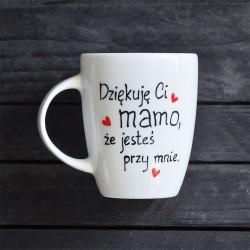 podziękowanie dla mamy Kubek Dziękuje Ci mamo Prezent na Dzień Mamy