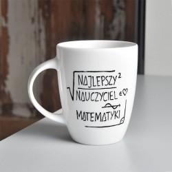 Kubek porcelanowy dla nauczyciela matematyki. Kubek Prezent dla Nauczyciela Matematyki