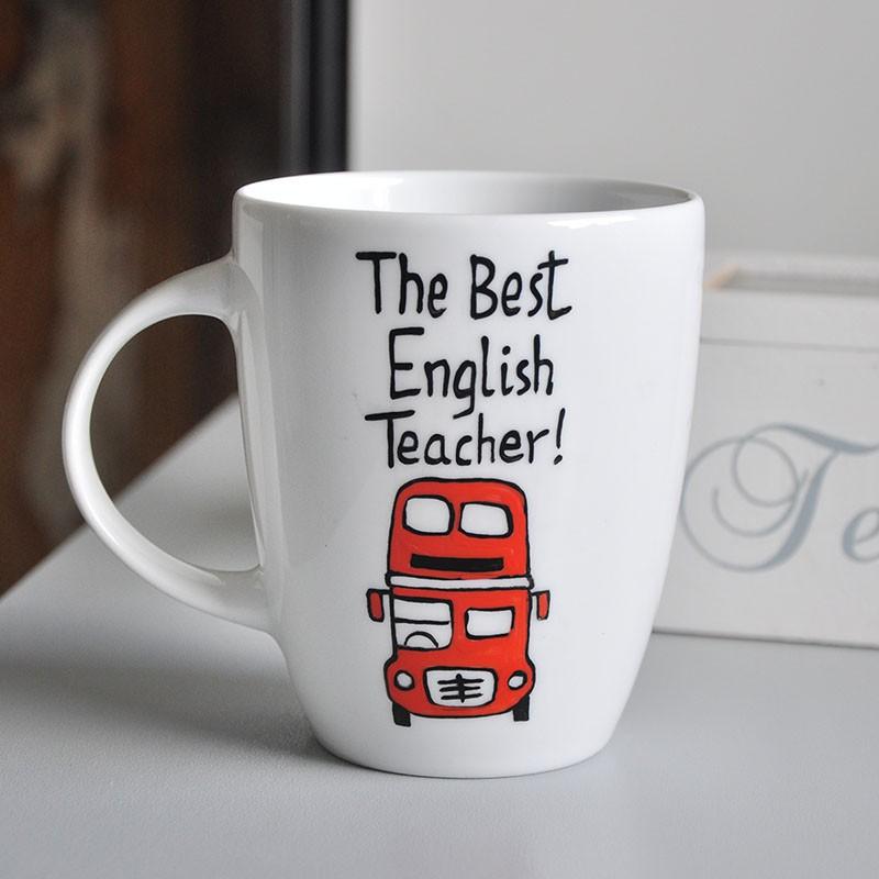 Kubek prezent dla nauczyciela języka angielskiego Kubek - Prezent Na koniec roku szkolnego dla nauczyciela j. angielskiego