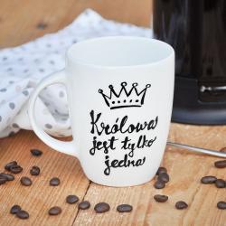 Kubek Królowej - czarny  Prezent dla żony, dziewczyny lub przyjaciółki z biura