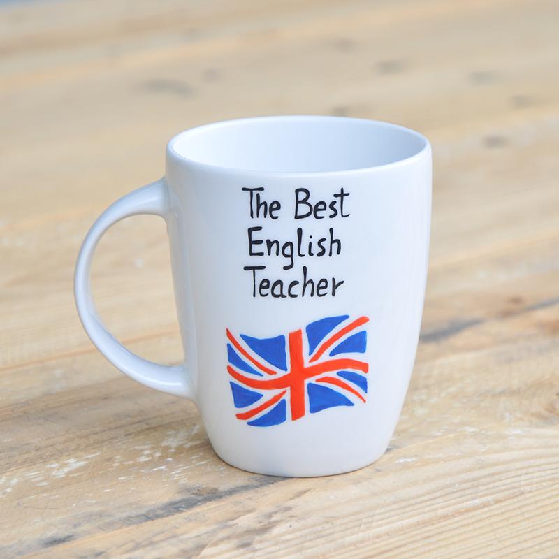 Prezent Na koniec roku szkolnego dla nauczyciela j. angielskiego Union Jack
