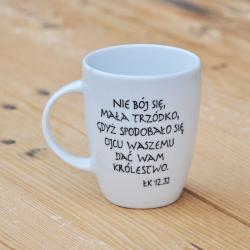 kubek z cytatem z Biblii Kubek z Twoim ulubionym cytatem, mottem.