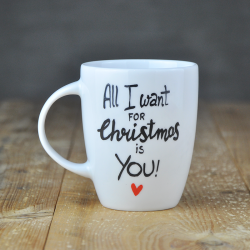 prezent na święta Kubek świąteczny dla ukochanej osoby.