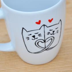 Zakochane koty kubek z kotem