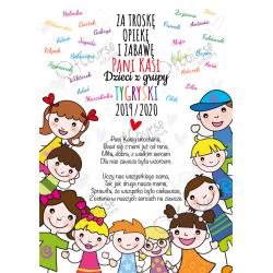 życzenia dla nauczyciela Życzenia dla nauczyciela personalizowana e-kartka. Pdf.