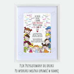 życzenia podziękowanie dla nauczyciela Życzenia dla nauczyciela personalizowana e-kartka. Pdf.