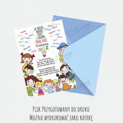 życzenia kartka dla nauczyciela Życzenia dla nauczyciela personalizowana e-kartka. Pdf.