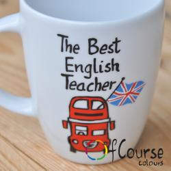 kubek życzenia dla nauczyciela języka angielskiego Kubek życzenia dla nauczyciela. Indywidualny projekt 300ml