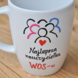 kubek nauczyciela wos - u WOS Kubek życzenia dla nauczyciela. Dzień nauczyciela.