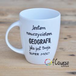 Kubek nauczyciela geografii.
