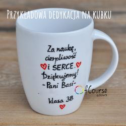 dedykacja dla nauczyciela życzenia dla nauczyciela kubek J. polski. Kubek Prezent dla nauczyciela języka polskiego