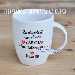 kubek życzenia dla nauczyciela Kubek Prezent dla Nauczyciela Języka Polskiego z Cytatem Mikołaja Reja i dedykacją.