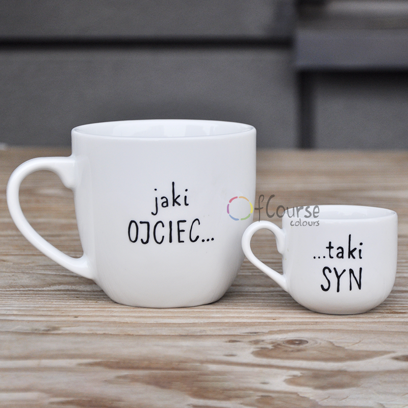 Mugs for Fother and son. Like Father Like Son. Limited edition.