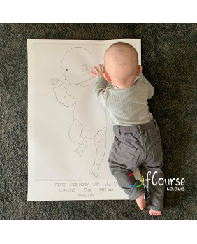 the birth portrait poster scale 1:1 custom baby portrait baptism gift, newborn gift scale 1:1 DIGITAL BIRTH POSTER, Custom Portrait Hand Drawn From Picture, In Scale 1:1, , line art, SELF PRINTABLE FILE