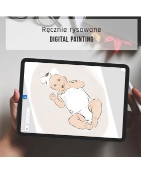 plakat maleństwo metryczka grafika prezent   grafika do pokoju dziecka Grafika, metryczka dziecka z portretem z dnia urodzenia w naturalnej wielkości.