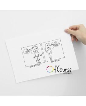 komiks o dziadkach zabawny komiks, powiedzonka dziadków, powiedzonka babci Portret, komiks o Babci i Dziadku, rysowany ze zdjęcia, prezent na Dzień Babci i Dzaidka.