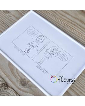 Portret, komiks o Babci i Dziadku, rysowany ze zdjęcia, prezent na Dzień Babci i Dzaidka.
