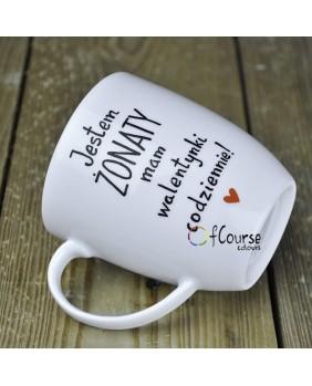 """copy of Kubek """"Najbardziej lubię kawę z tobą"""" Walentynki."""