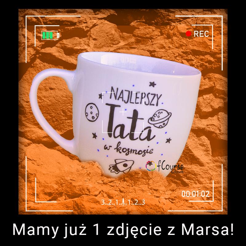 Kubek Taty. Najlepszy Tata w kosmosie ⭐⭐⭐ Kosmiczny kubek taty z rakietą!.