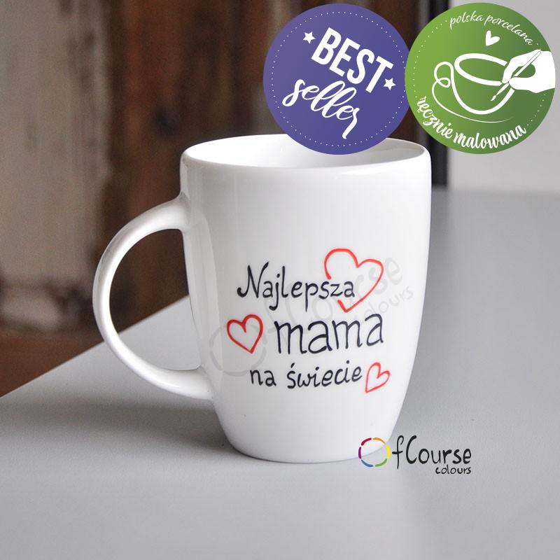 Kubek Najlepsza Mama na świecie - Prezent na Dzień Mamy 26 maja
