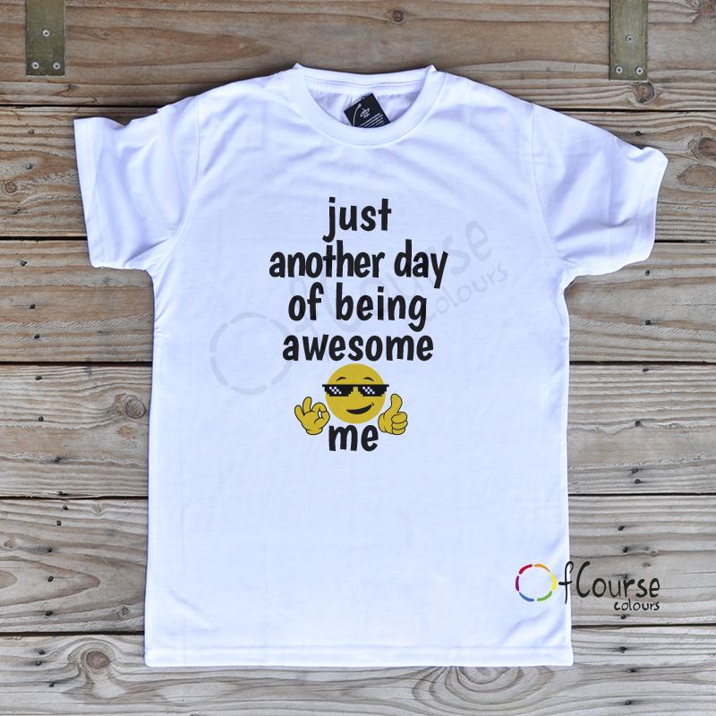 """Zabwny męski t-shirt """"Awesome me"""""""