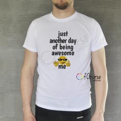 """koszulka męska z napisem Zabwny męski t-shirt """"Awesome me"""""""