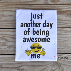 "just another day of being awesome me koszulka Zabwny męski t-shirt ""Awesome me"""
