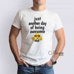 """koszulka męska z zabawnym napisem awesome Zabwny męski t-shirt """"Awesome me"""""""