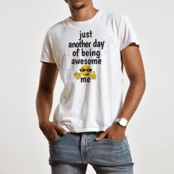 """koszulka męska na prezent z zabawnym napisem Zabwny męski t-shirt """"Awesome me"""""""