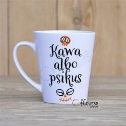 Kubek latte na halloween